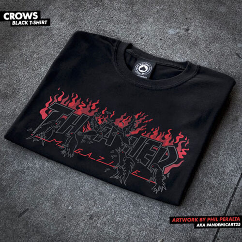 T-shirt Crows Black Thrasher