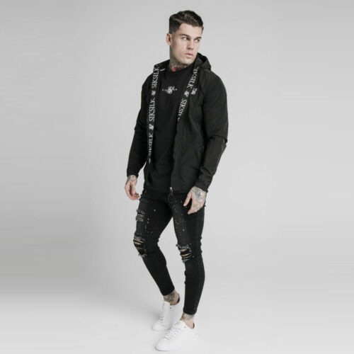 Windbreaker Zip Black SikSilk