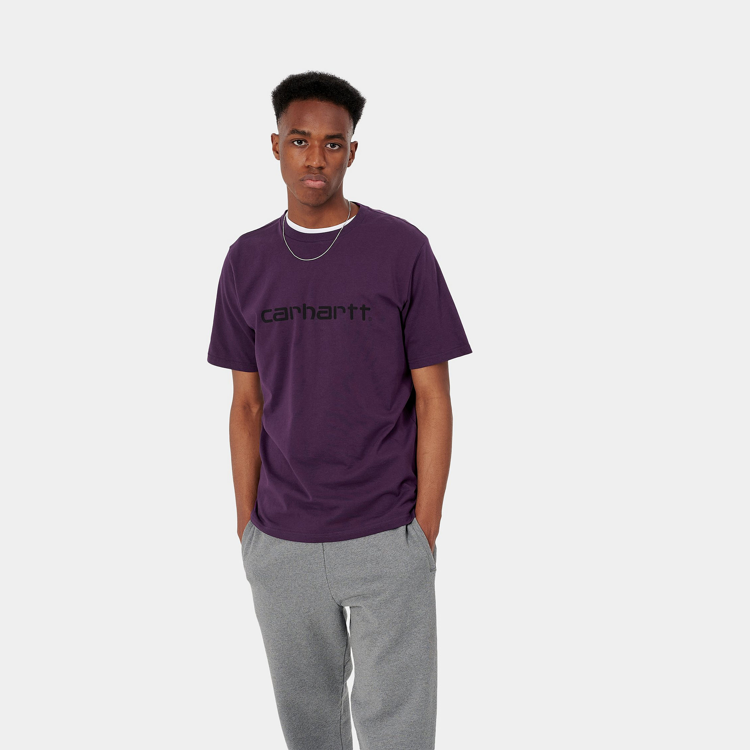 T-Shirt - Logo Purple - Carhartt wip