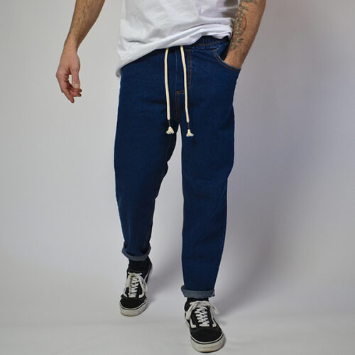 Jeans - Navy - Handmade