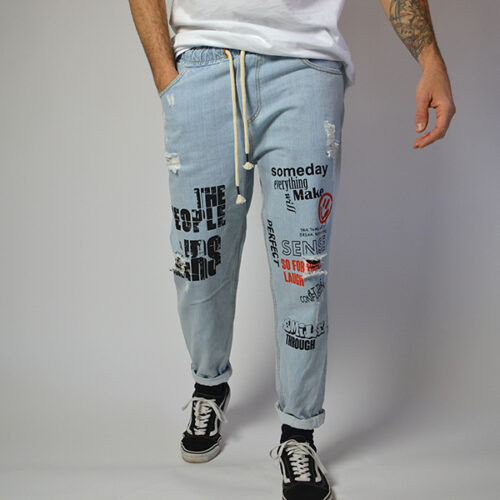 Jeans - Graffiti Art - Handmade