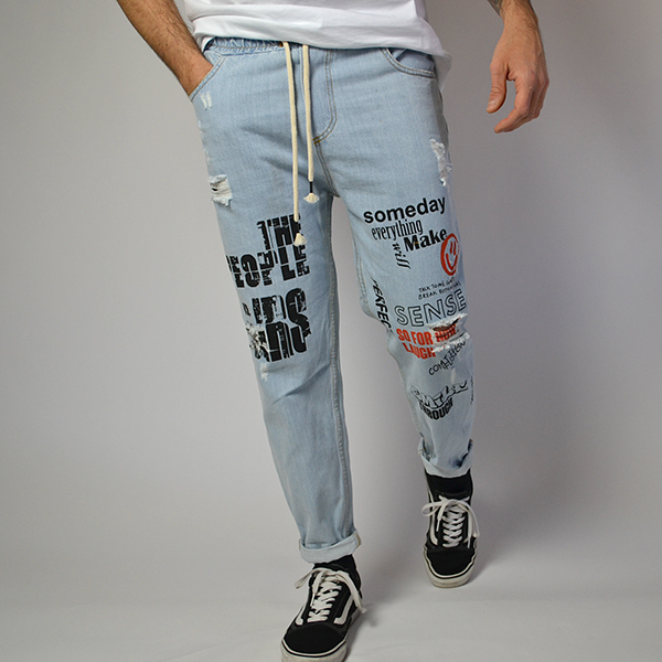 Jeans - Graffiti Art - Handmade