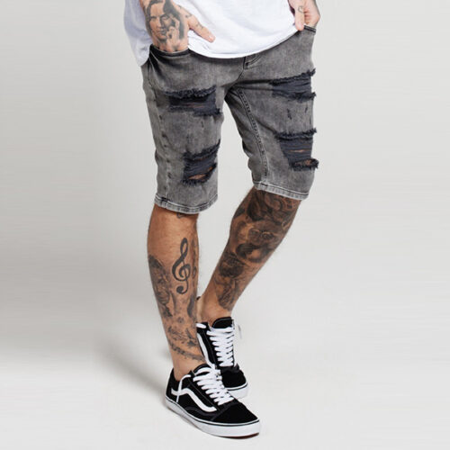 Pantaloncino - Distressed Jeans - SikSilk