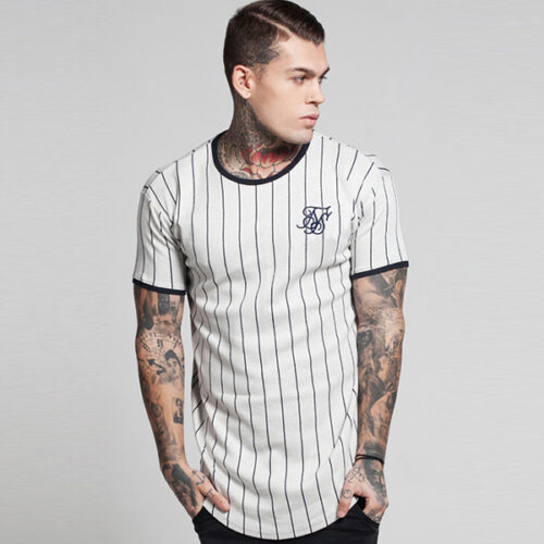 T-Shirt - Baseball White - SikSilk