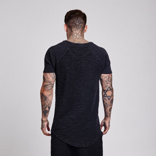 T-Shirt - Hem Black - SikSilk