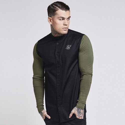 Camicia - Contrast Green - SikSilk